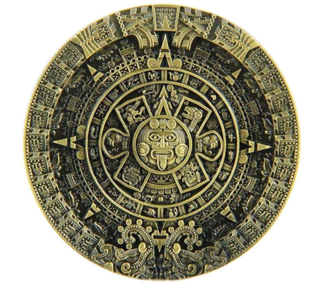 Choppershop azt/èque Calendrier Maya Couleur Bronze en m/étal Boucle de Ceinture
