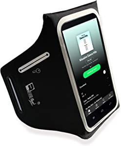 RevereSport Compatible iPhone 12 Waterproof Running Armband with Extra Pockets for Keys, Cash and Credit Cards. Phone Arm Holder for Sports, Gym Workouts and Exercise