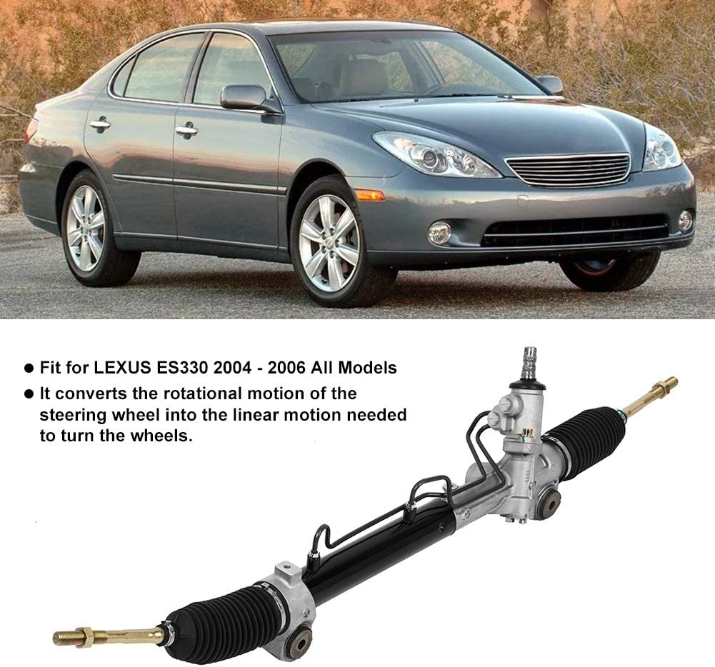 Qiilu 26-2632 25693 Power Steering Rack and Pinion Assembly Compatible with Toyota Avalon 2005-2012 Fit for Toyota Camry 2002-2006 All Models Lexus ES350