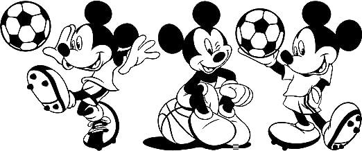 3 Mickey mouse pegatinas 25 cm elegir color 18 colores en stock Disney, pelota, baloncesto, fútbol,