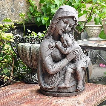 Figura Decorativa para jardín Católica De La Vendimia Abraza A La Virgen María A Prueba De