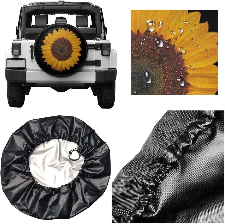 Wohnmobil Doifck Universal Ersatzradabdeckungen Sonnenblume Polyester Sonnenschutz Wasserdicht Staubdicht DIY Tire Protective Cover F/ür Anh/änger LKW Radschutz Auto