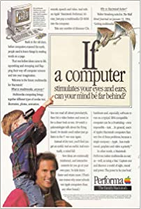 RelicPaper 1994 Macintosh Performa: Computer Stimulates Your Eyes, Apple Computer Print Ad