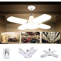 Luz de Techo LED para Garaje, LACYIE Lámpara Deformable Para Taller 80W 8000LM E27…