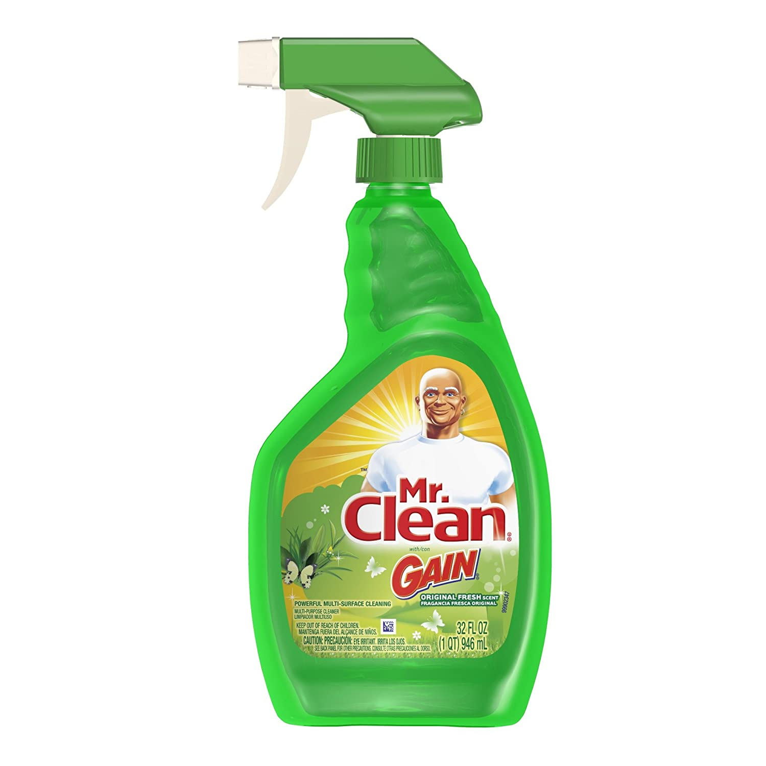 Amazon.com: Mr. Clean With Gain, Multi Surface Spray Cleaner, Original  Fresh Scent, 32 Oz Spray Bottle, (Pack Of 3): Health U0026 Personal Care