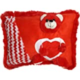 Ultra Red Teddy Soft Love Cushion Pillow, Red