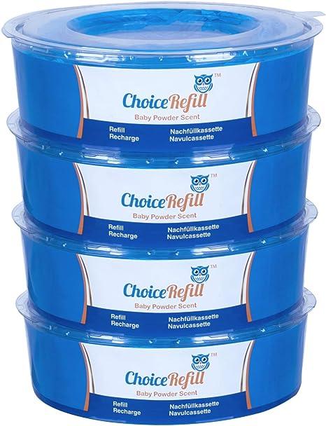 Recarga ChoiceRefill para el sistema Sangenic Tommee Tippee & Sangenic Tec de cubetas de pañales (pack de 4): Amazon.es: Bebé