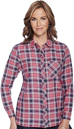 Nino Cerruti Camisa De Cuadros De Viscosa para Mujer: Amazon.es: Ropa y accesorios