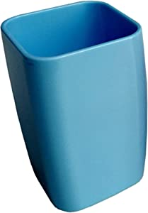 SY6004 Bathroom Tumbler Cup Unbreakable Dental Rinsing Cup,Soft and Easy to Grip,Toothbrush Organizer (Blue)