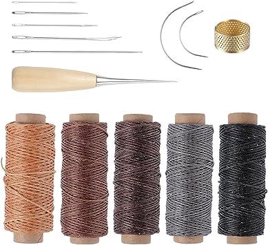 ROSENICE Herramienta de artesanía de cuero agujas de coser a mano de tapicería de cuero de lona accesorios de costura de bricolaje 14 unids: Amazon.es: Juguetes y juegos