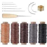 ROSENICE Herramienta de artesanía de cuero agujas