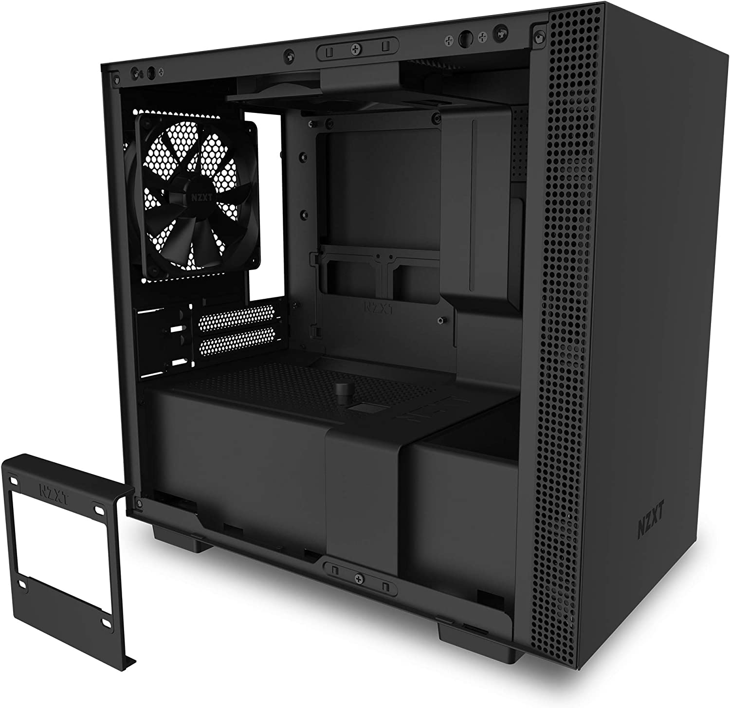 Water-Cooling Ready NZXT H710 ATX Mid Tower PC Gaming Case Quick-Release Tempered Glass Side Panel Black//Red Front I//O USB Type-C Port Steel Construction Cable Management System