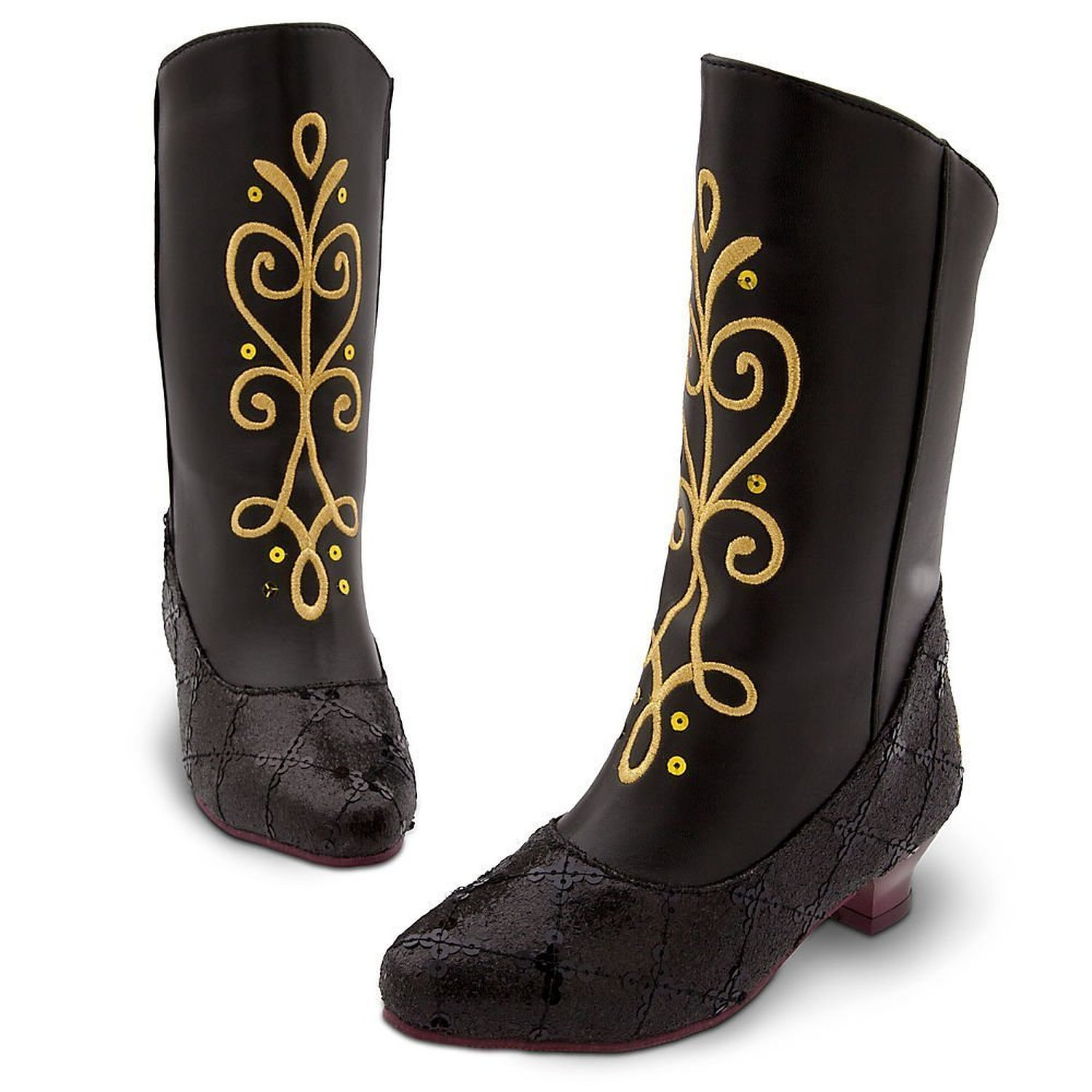deff92bae93b8 Disney Store Anna Boots for Girls Frozen Size 11-12 Black