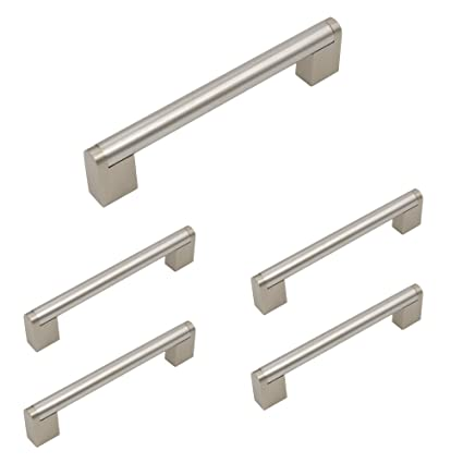 Homdiy Brushed Nickel Cabinet Hardware Pulls 5 In Hole