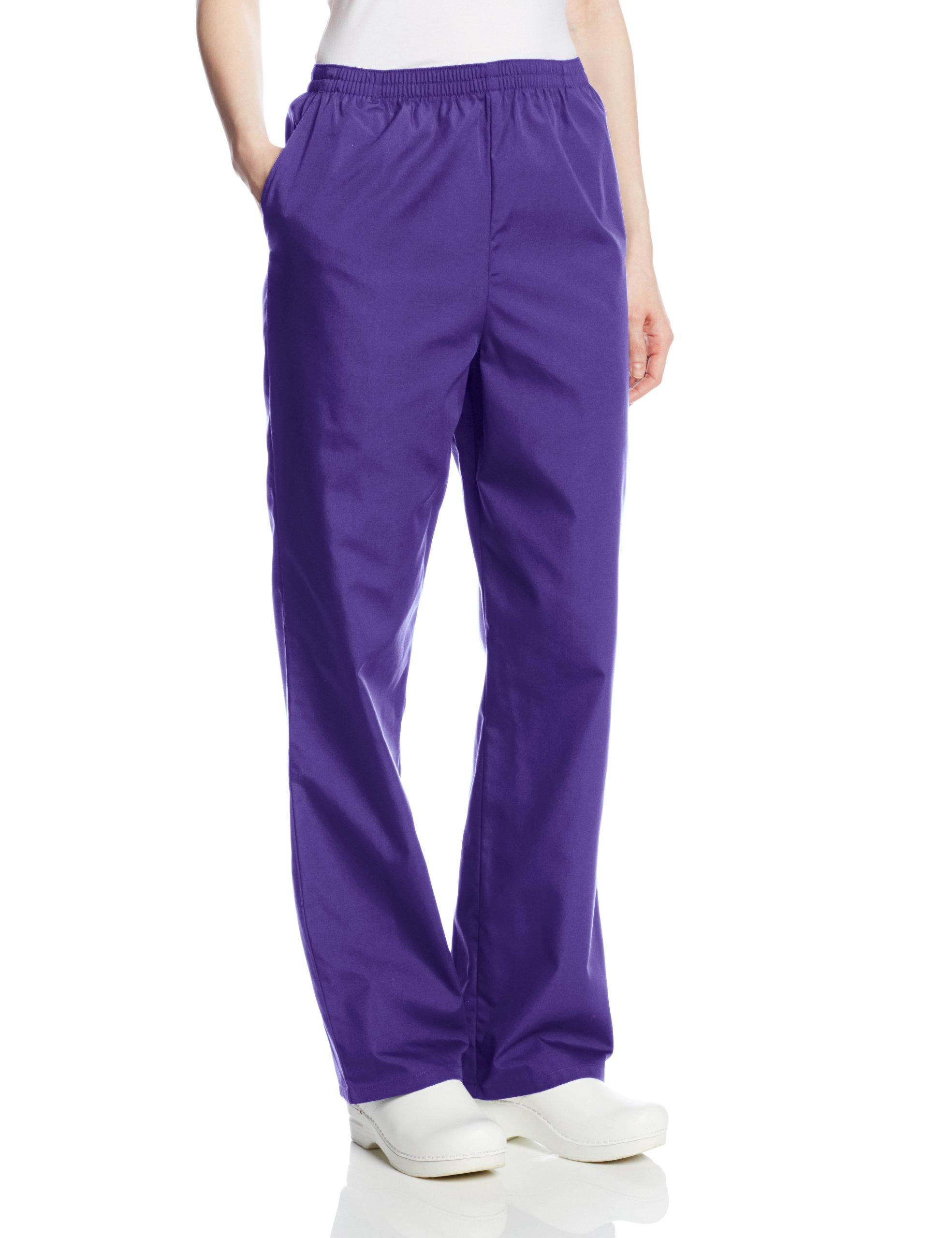 Cherokee Women's Workwear Scrubs Pull-On Pant (SIZE 2X-5X), Grape, 2X-Large-Petite