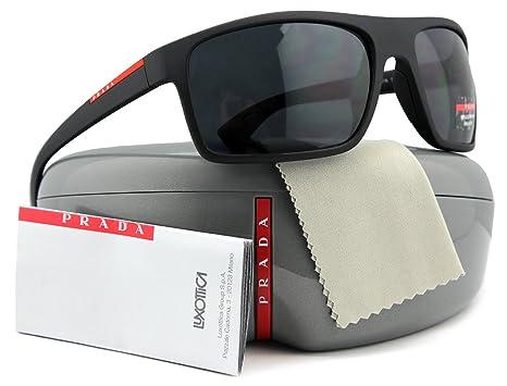 Amazon.com: Prada Linea Rossa sps02q Hombres anteojos de sol ...
