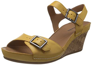97bb84d597c Clarks Womens Casual Clarks Rusty Art Leather Sandals In Yellow Standard  Fit Size 9