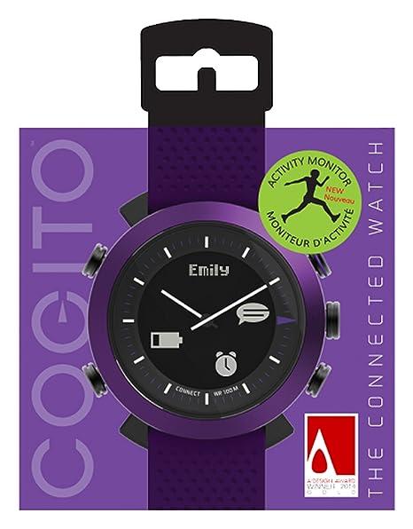 Cogito Classic Reloj Inteligente Negro, Púrpura LCD - Relojes Inteligentes (LCD, Negro, Púrpura)