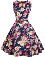 Summer Dress for Women Floral Print Retro Vintage Dress Elegant Style Casual Party Office Dress Vestidos