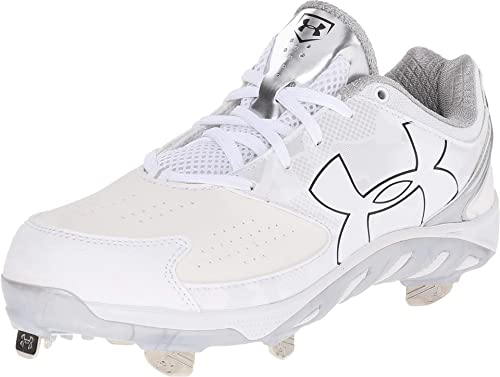 4cca737ed4c0 Under Armour New Women's Spine Glyde ST Softball Size 6 White/White Metal  Cleat