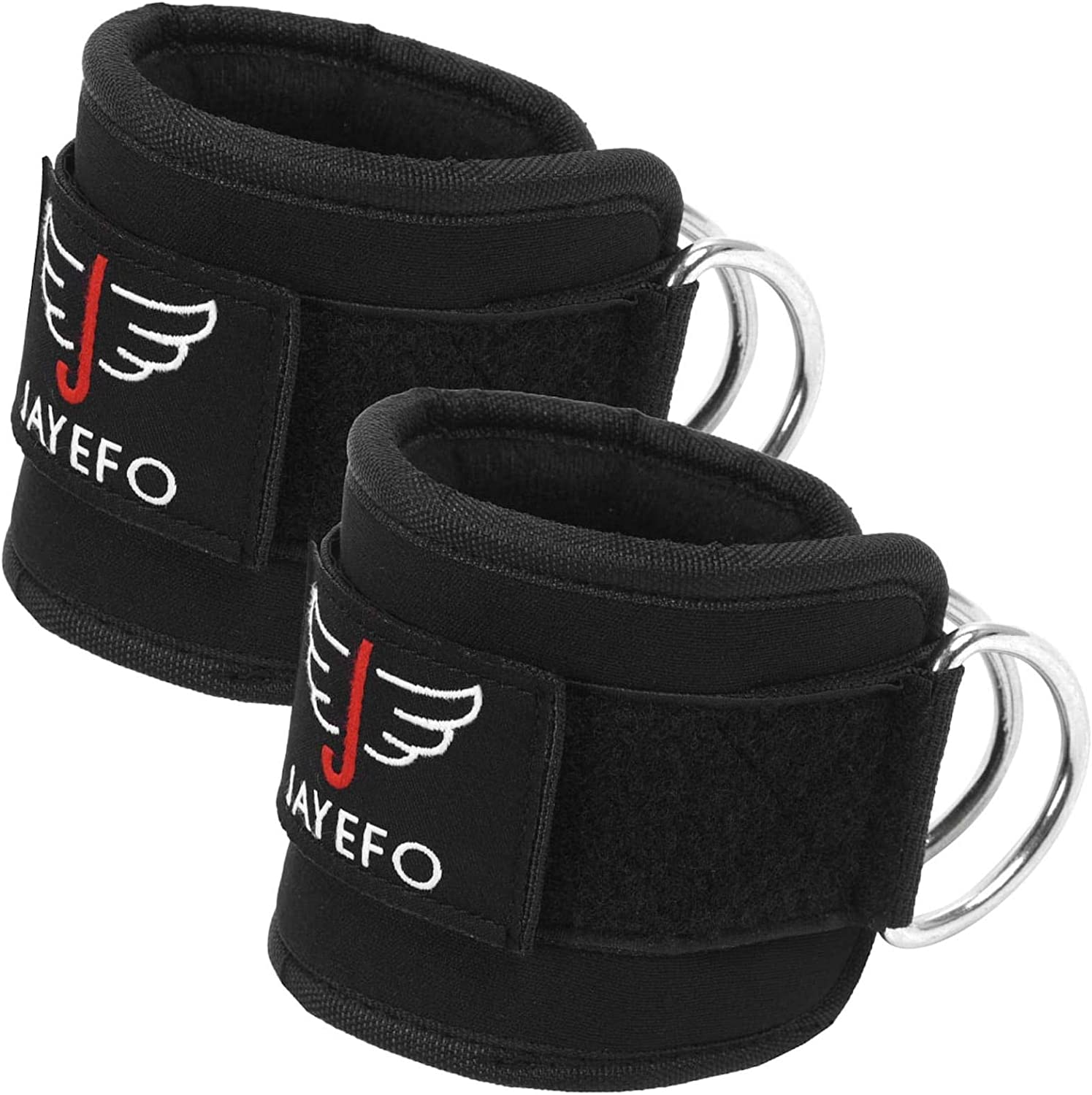 Jayefo Ankle Straps Padded for Cable Machine Attachment Leg Kickback Pulley Workout{Pair} Ankle Cuffs for Hips Glutes Workout for Women /& Men Adjustable Quads Abs Hamstrings