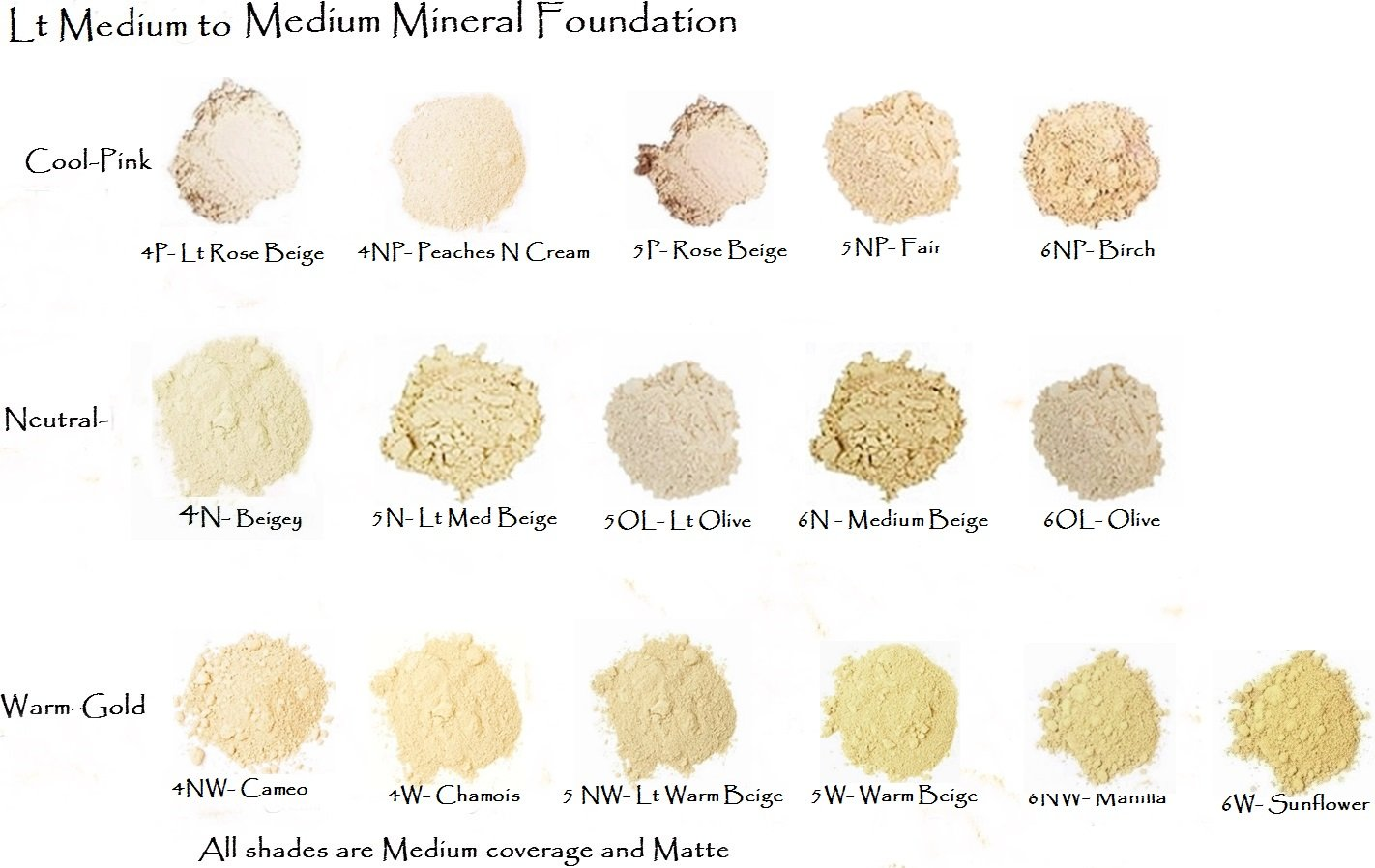 Fair - Light Slightly Pinkish Beige Loose Mineral Foundation - All Natural 20gm Jar
