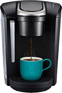 Keurig K-Select Coffee Maker, Single Serve K-Cup Pod Coffee Brewer, With Strength Control and Hot Water On Demand, Black (Renewed)