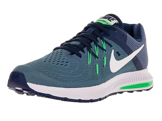 Nike Men's Zoom Winflo 2 Ocn Fg/White/Elctrc Grn/Lyl Bl Running