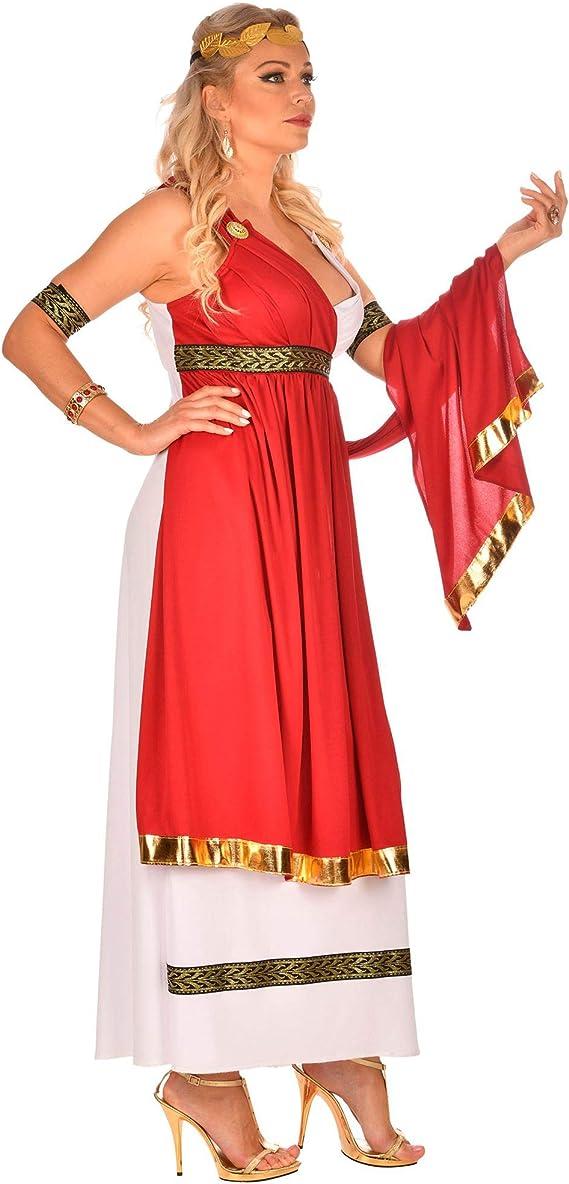 WIDMANN 09103 Disfraz de emperatriz romana, para mujer, rojo ...