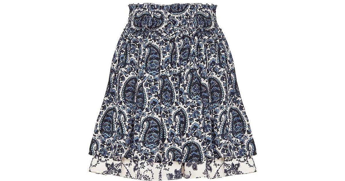 9d677418b0 Amazon.com: Derek Lam 10 Crosby Paisley Flounce Skirt: Clothing
