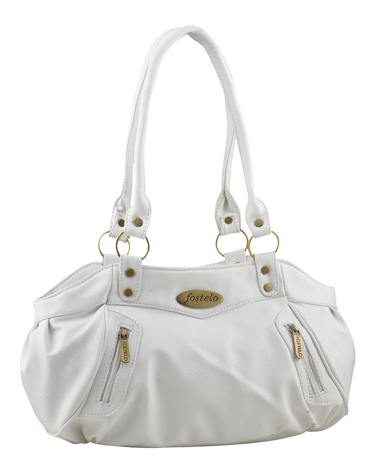 d72c2b3be70a8 Fostelo Women's Handbag (White) (FSB-145): Amazon.in: Shoes & Handbags