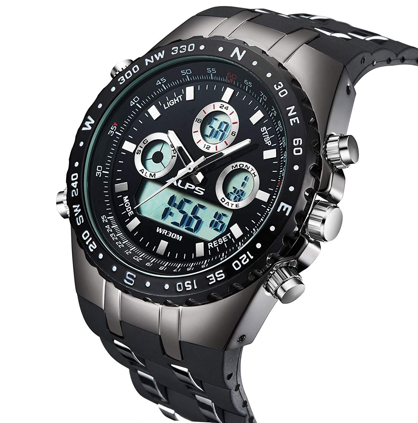 f9260c0dcdc Amazon.com  Watch Mens Outdoor Military Sports Digital Large Face Watch