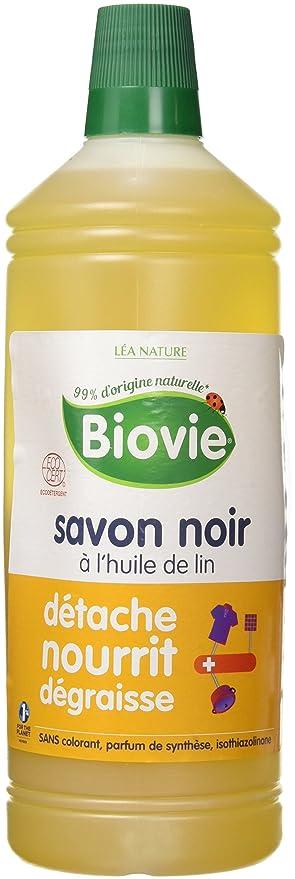 biovie jabón negro líquido a la aceite de linaza 1 l – Lote de 2
