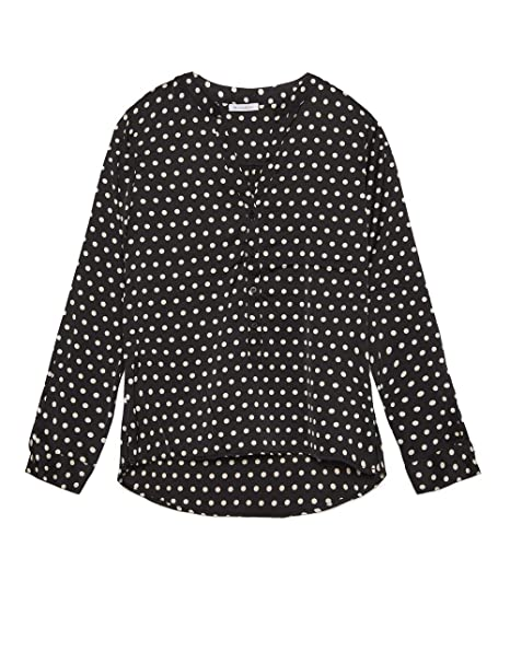 detailed look b8d04 111f1 Motivi : Camicia in Raso a Pois Nero 36 (Italian Size ...