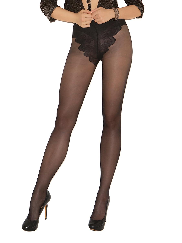 Amazon Com Elegant Moments Womens French Cut Support Pantyhose Black One Size Adult Exotic Hosiery Clothing