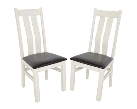 Swell Wren Living Set Of 2 Premium Chelsea Dining Chairs High Wooden Back Solid Wood Leather Restaurant Bistro Cafe Fully Assembled All 5 Reviews Evergreenethics Interior Chair Design Evergreenethicsorg