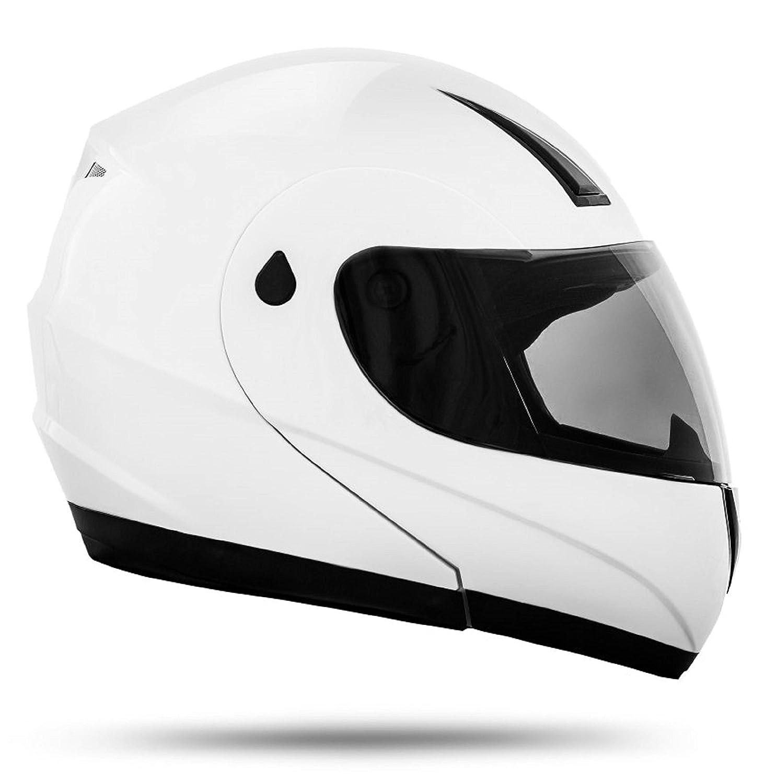 M 57//58cm ATO Moto K71 Wei/ß Klapphelm Intergralhelm Motorradhelm Jethelm ECE 22-05 Gr/ö/ße