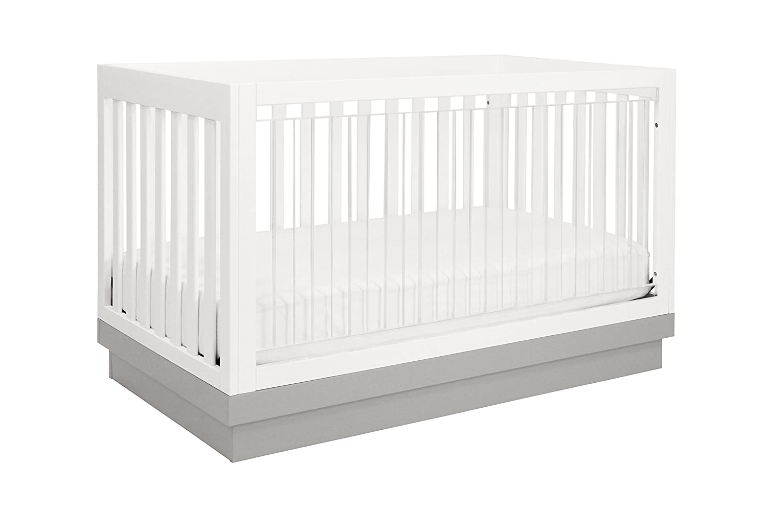 amazoncom  babyletto harlow in convertible crib white with  - amazoncom  babyletto harlow in convertible crib white with greyacrylic  babyletto lucite  baby