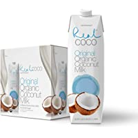 Real Coco Organic Original Coconut Milk (6-Pack 1L), USDA Organic, No Added Sugar, Plant Based, Dairy & Soy Free, Vegan, Keto and Paleo Friendly
