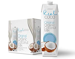 Real Coco Organic Original Coconut Milk (6-Pack 1L), USDA Organic, No-Added Sugar, Plant Based, Dairy & Soy Free, Vegan, Keto and Paleo Friendly