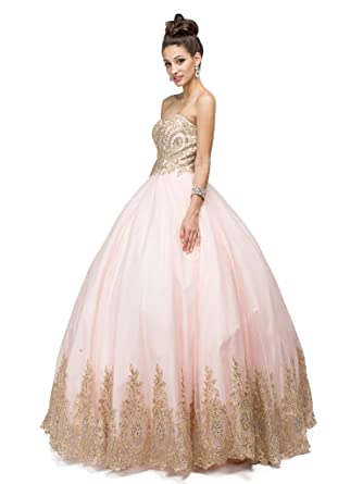 4d5eebfd4b927 Dancing Queen - 1115 Bead Embellished Sweetheart Formal Ball Gown at Amazon  Women's Clothing store: