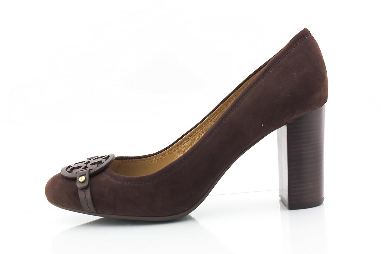 81454ed85cefd Tory Burch Mini Miller 85MM Pump Heel Lancaster Suede Brown Coconut (9.5)   Amazon.co.uk  Shoes   Bags