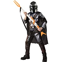Star Wars The Mandalorian Kids Halloween Costume Small (4-6) Jumpsuit/Cape/Mask/Holographic Detail