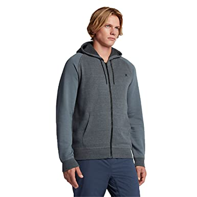 Hurley Men's Bayside Zip Hoodie Cool Grey Small