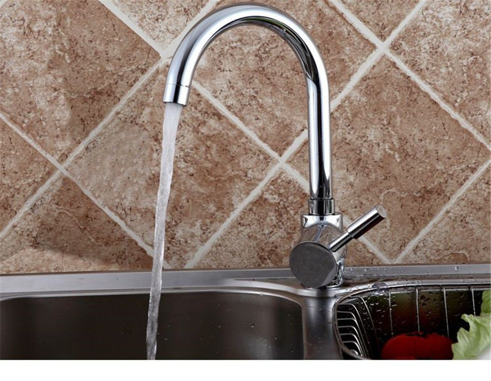 Bijjaladeva Antique Kitchen Sink Mixer Tap Antique Copper Kitchen Faucet Full Cold Water Faucet Single Hole to redate The Dish Washing Basin Sink Mixer