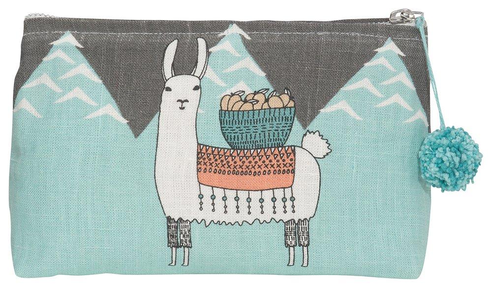 Danica Studio Linen Cosmetic Bag, Small, Llamarama