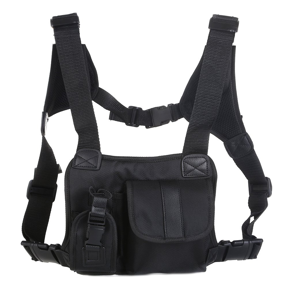 Saigain Universal Hands Free Chest Pocket Harness Bag Holster Holder Vest Rig for Two Way Radio (Rescue Essentials)