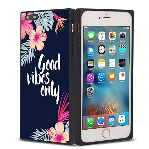 newest f9711 cceec Amazon.com: YaoLang iPhone 7/8 Square Edges Case, Good Vibes Only ...
