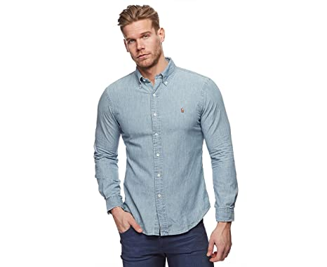 Men's Chambray Fit Slim Shirt Ralph Lauren lc3TFKJ1