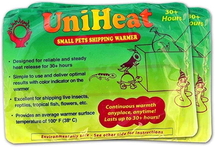 """Uniheat Shipping Warmer 30+ Hours, 8 PACK >PLUS!< 1 - 10""""x18"""" Shipping Bags, 30+ Hour Warmth for Shipping Live Corals, Small Pets, Fish, Insects, Reptiles, Etc...AND Shipping Bags to Hold in the Heat"""